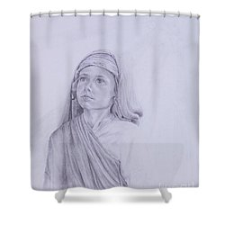 The Path Before Him From The Life Of Jesus Series Shower Curtain by Susan Harris