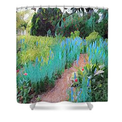 The Path Less Traveled Shower Curtain