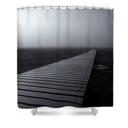 The Path Shower Curtain by Mike  Dawson