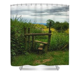 Shower Curtain featuring the photograph The Path Most Traveled  by Connie Handscomb