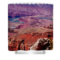 The Path Of The Colorado River Shower Curtain by Susanne Van Hulst