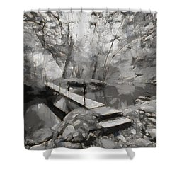 The Path To Nirvana Shower Curtain by Mario Carini