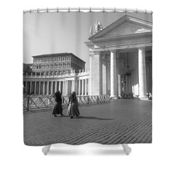 The Path To Temple Shower Curtain