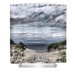 The Path To The Beach Shower Curtain by Jouko Lehto