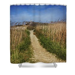 The Pathway Home Shower Curtain by Tom Gari Gallery-Three-Photography