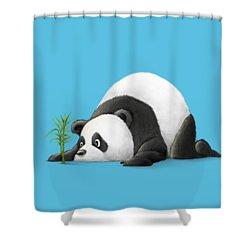 The Patient Panda Shower Curtain