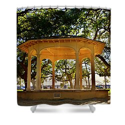 The Pavilion At Battery Park Charleston Sc  Shower Curtain