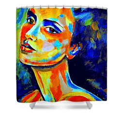 The Peace Of A Face Shower Curtain