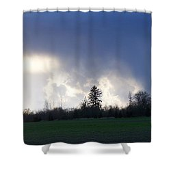 The Pending Storm Shower Curtain by Laurie Kidd