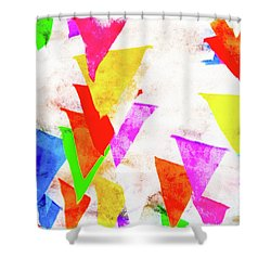 The Pennants At Mango Cafe Shower Curtain