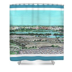 The Pentagon Shower Curtain