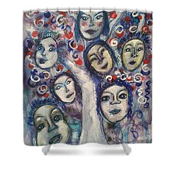 The People Tree Shower Curtain by Mimulux patricia no No
