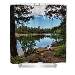 Shower Curtain featuring the photograph The Perfect Fishing Spot  by Saija Lehtonen