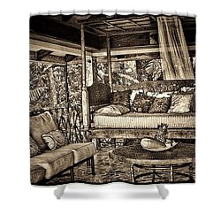 The Retreat Shower Curtain by Pamela Blizzard