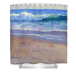 The Healing Pacific Shower Curtain