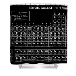 The Periodic Table Of The Elements Black And White Shower Curtain