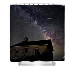 The Perseid Meteor Shower At Lower Fox Creek School  Shower Curtain