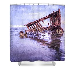 A Stormy Peter Iredale Shower Curtain