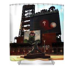 The Phillies - Steve Carlton Shower Curtain by Bill Cannon