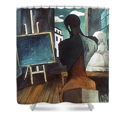 The Philosopher And The Poet Shower Curtain by Granger