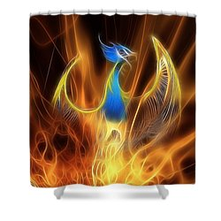 The Phoenix Rises From The Ashes Shower Curtain by John Edwards