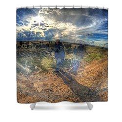 The Photographer Shower Curtain by Aliceann Carlton