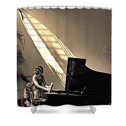 The Pianist Shower Curtain by Beto Machado