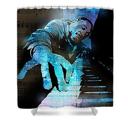 The Piano Man Shower Curtain by Paul Sachtleben