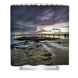 The Pier @ Lorne Shower Curtain by Mark Lucey