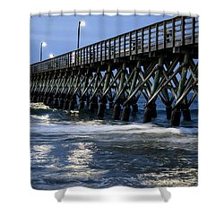 The Pier At The Break Of Dawn Shower Curtain by David Smith