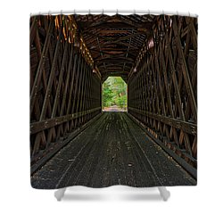 Shower Curtain featuring the photograph The Pier Bridge by Edward Fielding