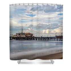The Pier On A Cloudy Day Shower Curtain
