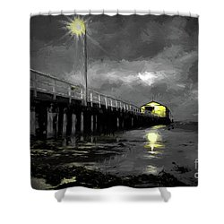 The Pier On The Bay Shower Curtain