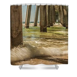 The Pier Shower Curtain by Phillip Burrow