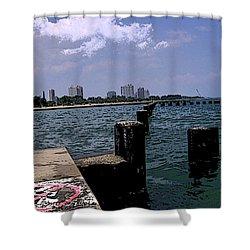 The Pier Shower Curtain by Skyler Tipton