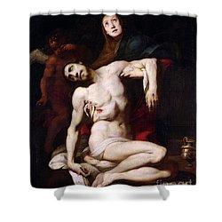 The Pieta Shower Curtain by Daniele Crespi