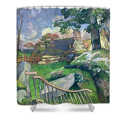 The Pig Keeper Shower Curtain by Paul Gauguin