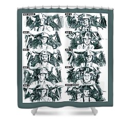 The Pilots Of The Battle Of Yavin  Shower Curtain