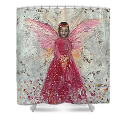 The Pink Angel 2 Shower Curtain by Jun Jamosmos