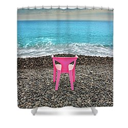 The Pink Chair Shower Curtain