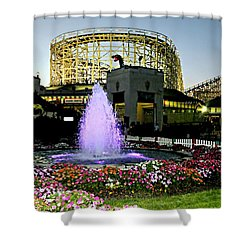 The Pink Fountain Shower Curtain