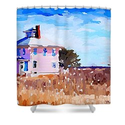 The Pink House, Newburyport, Ma. Shower Curtain