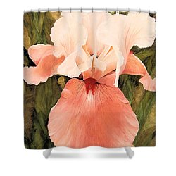 Shower Curtain featuring the painting The Pink Lady  by Laurie Rohner
