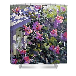 The Pink Morning Shower Curtain