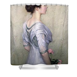 The Pink Rose Shower Curtain by Lilla Cabot Perry