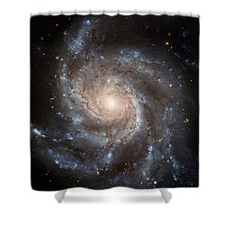 The Pinwheel Galaxy  Shower Curtain by Hubble Space Telescope