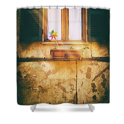 Shower Curtain featuring the photograph The Pinwheel by Silvia Ganora