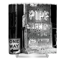 The Pipe Corner Shower Curtain