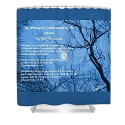 The Pleasant Countenance Of The Moon Shower Curtain