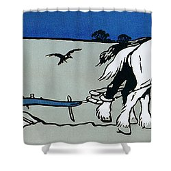 The Ploughman Shower Curtain